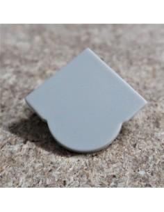 Geschlossen End Cap for HL-ALU007S (Optische Linsen Ecke Profil Extrusion 60°)