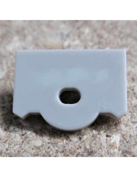 Open End Cap for HL-ALU012R (Optic Lens profile extrusion 30°)