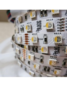 RGBW LED Strip (RGB+NW) 24V-14.4W/m- IP00-CRI80-SMD5050