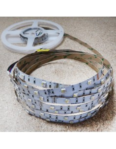 RGBW LED Strip, 60 LEDS per meter, 5 meters roll, 300LEDS, 24V non waterproof