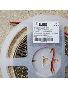 Warm White LED Strip 24V-4.8W/m- IP00-CRI80-SMD3528