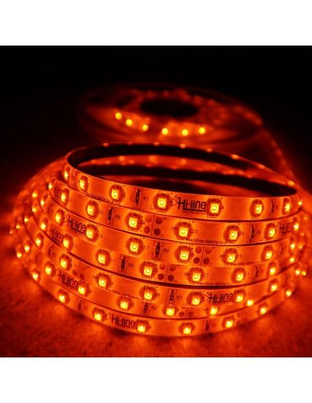 LED-Streifen Bernstein 4.8W/m 24V IP65 SMD3528