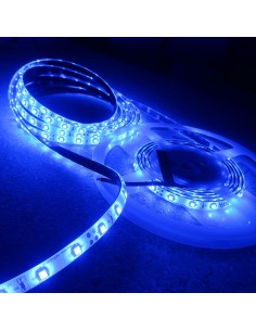 Blue LED Strip 24V 4.8W/mIP65-8mm wide-5m roll-SMD3528