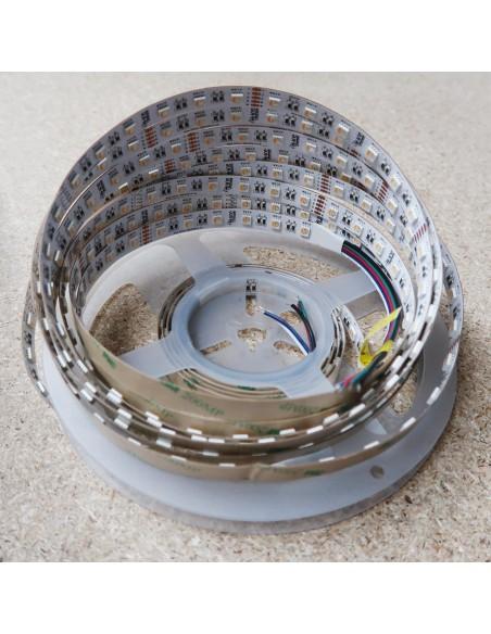 RGBW LED Strip (RGB+WW) 24V-14.4W/m- IP00-CRI80-12mm/2oz PCB-5m Roll