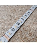 RGBW LED Strip (RGB+WW) 24V-14.4W/m- IP65-CRI80-12mm/2oz PCB-5m Roll