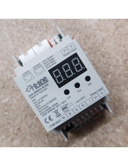 DIN RAIL DMX RGB RGBW LED CONTROLLER 4 CH