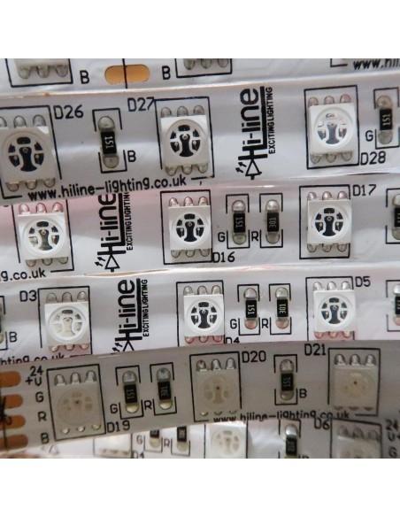 RGB LED Streifen 24V 14.4 W / m IP65 SMD5050