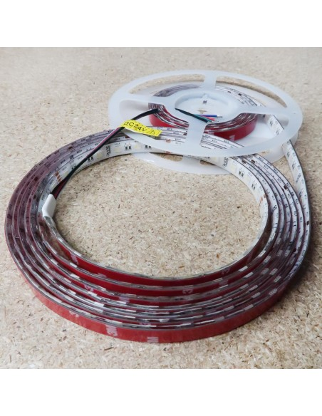 RGBW LED Strip (RGB+CW) 24V-14.4W/m- IP65-CRI80-12mm/2oz PCB-5m Roll
