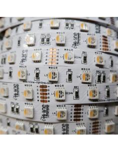 RGBW LED-Streifen (RGB+WW) 24V-14.4W/m