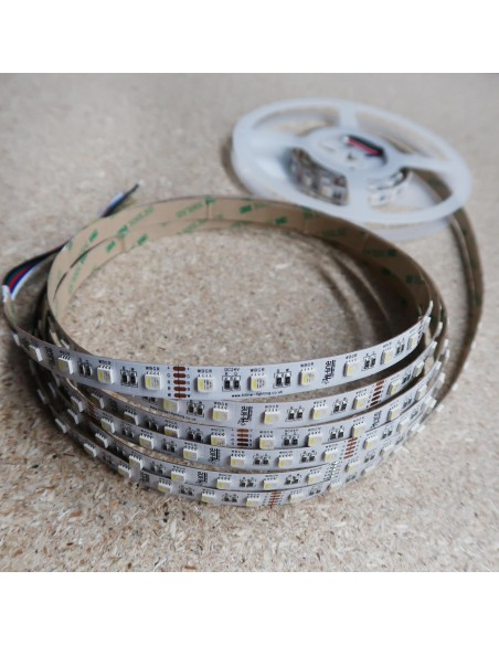 RGBW LED Strip (RGB+CW) 24V-14.4W/m- IP00-CRI80-12mm/2oz PCB-5m Roll