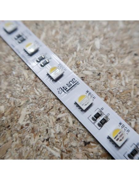 RGBW LED-Streifen (RGB+NW) 24V-14,4W/m- IP00-CRI80-12mm/2oz PCB-10m Rolle