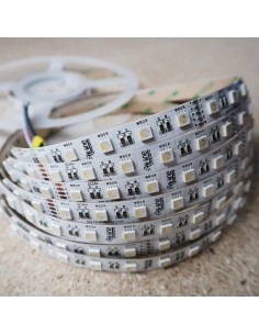 RGBW LED Strip (RGB+NW) 24V-14.4W/m- IP00-CRI80-12mm/3oz PCB-5m Roll