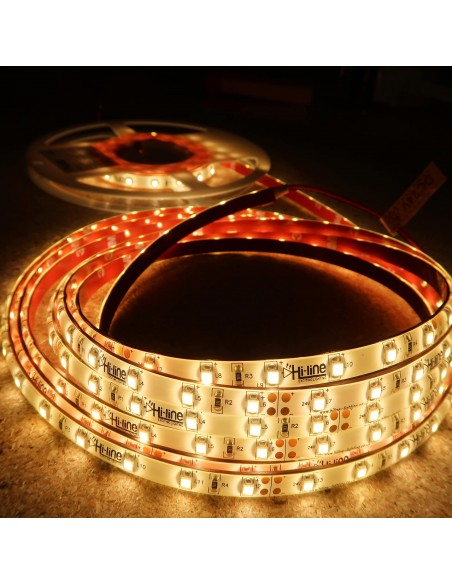 Warm White LED Strip 24V-4.8W/m- IP65-CRI80-SMD3528