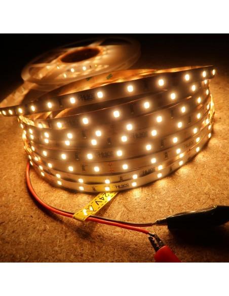 Warm White LED Strip 24V-14.4W/m- IP00-CRI80-SMD2835
