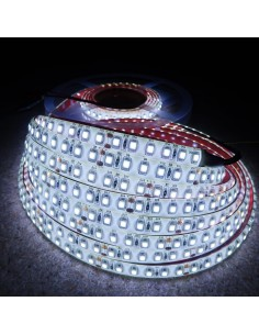 9.6W Cool White LED Strip 120 LEDs IP65 CRI80 6500K