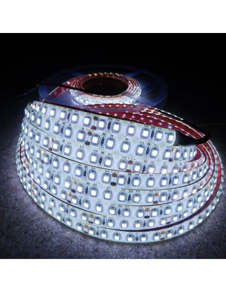 Kaltweißer LED-Streifen 24V-9,6W/m- IP65-CRI80-SMD3528