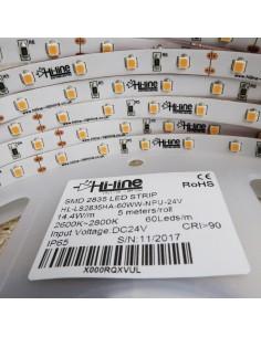 warm white LED Strip CRI 90 nano ip65