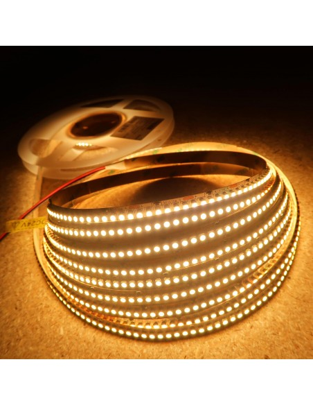High density warm white LED Strip 240 LEDs / meter CRI 80+