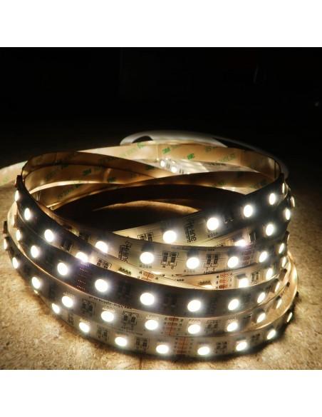 RGBW LED Strip (RGB+NW) 24V-14.4W/m- IP00-CRI80-12mm/2oz PCB-5m Roll