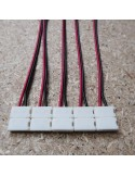 10mm strip power connector with 15cm cable 2 pins