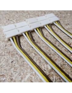 3-polige-Lötfreie Stromanschlussklemme mit 15cm Kabel für 10mm CCT-einstellbare LED-Streifen (5er Packung)