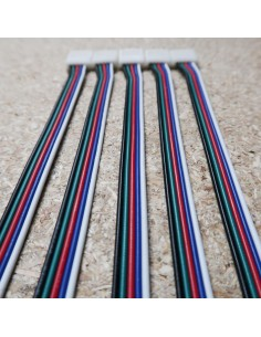 Flat 5 cores RGBW LED cable 10 meters roll