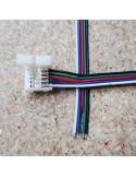 5polige-Lötfreie Stromanschlussklemme mit 15cm Kabel für 10mm RGBW LED-Streifen (5er Packung)