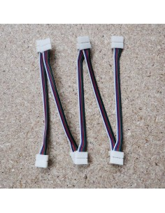 12mm RGBW strip to strip extension with 15cm cable (pack of 5)