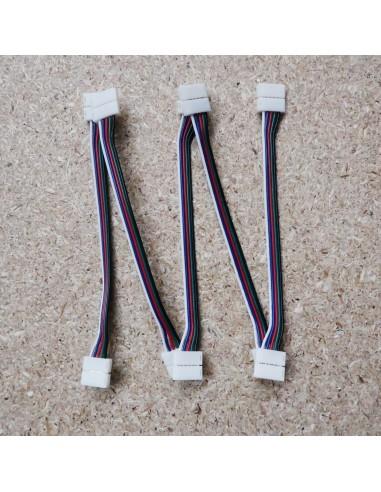 5polige-Lötfreie Verdrahtungsklemme (15cm Kabel) für 10mm RGBW LED-Streifen (5er Packung)