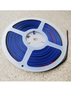 Flat 4 core RGB LED strip ribbon cable 10 meters roll