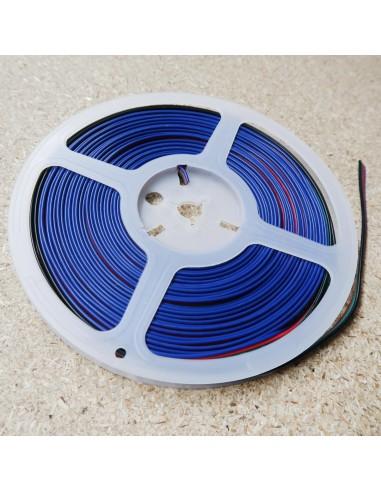 Flaches Kabelband für RGB LED Streifen, 10m Rolle 4-adrig