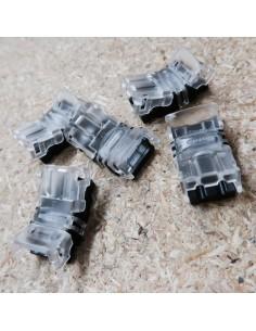 Lötfreie Stromanschluss-Verbindungsklemme für Einzelfarbe 2 Leiter LED-Streifen 10mm, IP00