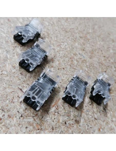 Lötfreie Stromanschluss-Verbindungsklemme für Einzelfarbe 2 Leiter LED-Streifen 8mm IP65