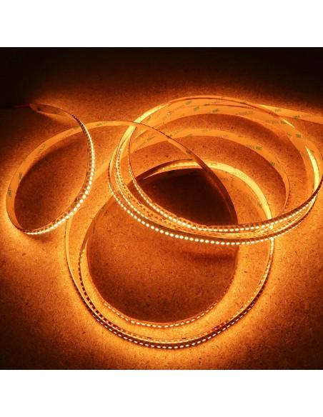 Warmweißer LED-Streifen 24V-19.2W/m- IP00-CRI80-SMD3528