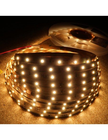 3000K Warm White LED Strip 24V 4.8W/m IP00 CRI80 SMD3528