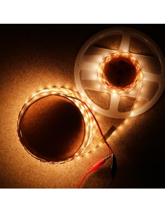 Warm White LED Strip 3000K 24V 14.4W/m IP00 CRI90 SMD2835