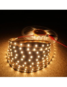Warm White LED Strip 3000K 24V 14.4W/m IP00 CRI80 SMD2835