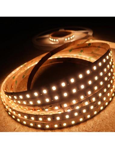 Warmweißer LED-Streifen 3000K 24V 28.8W/m IP00 CRI90 SMD2835