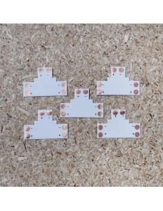 2poliges-Lötfreies T-förmiges PCB Verbindungsstück für 10mm LED-Streifen (5er Packung)