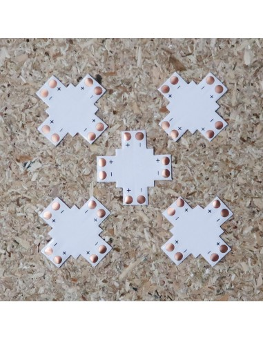 Cross Shape LED strip PCB for 8mm 2pin solderless connectors