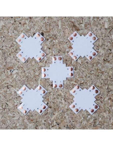 8mm Cross Shape LED strip PCB (single colour, 2 pin)