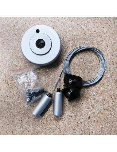 Pendant mounting kit including connection box for Hi-Line profile systems
