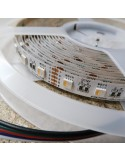 RGBW LED Strip (RGB+WW) 12V-14.4W/m- IP00-CRI80-12mm/2oz PCB-5m Roll
