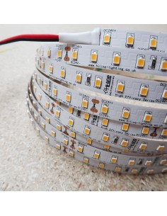 High Efficiency Warm White 3000K LED Strip 24V 14.4W/m IP00 160Lm/W