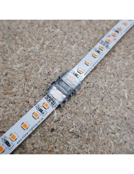 Lötfreie Verbindungsklemme für Einzelfarbe 2 Leiter LED-Streifen 10mm IP00