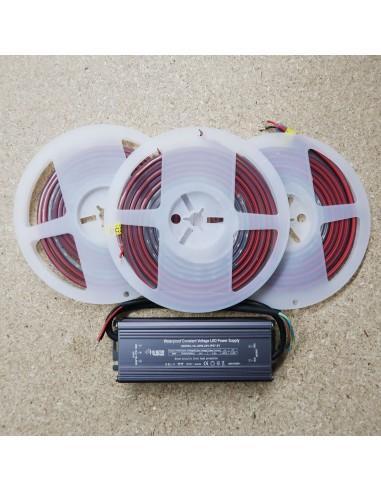 2.4 meters Single Colour LED Strip Kit RGB+Warm IP68