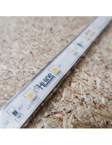 Warm White LED Strip 24V-4.8W/m- IP68-CRI80-SMD3528 PU