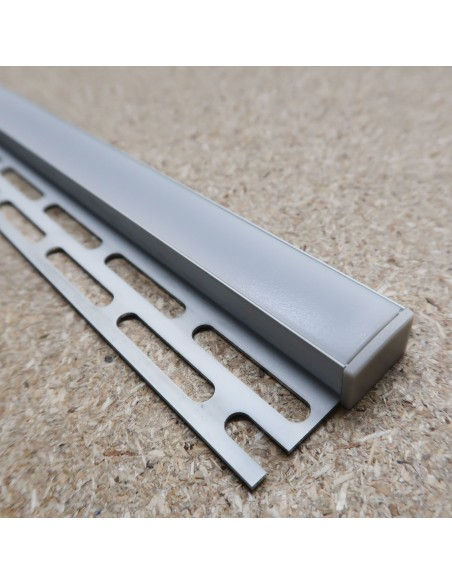 Recessed Tile Edge LED Profile for LED Strip - 2m length