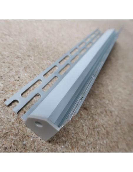 Recessed Tile Internal Corner LED Profile for LED Strip (2m)