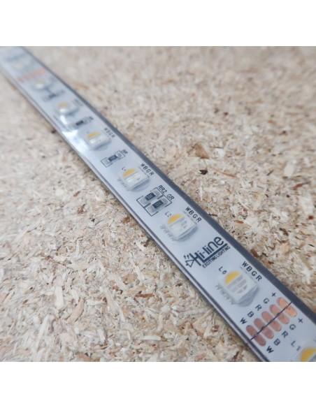 RGBW LED-Streifen (RGB+NW) 24V-14,4W/m- IP68-PU-CRI80-SMD5050